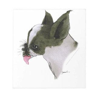 Boston Terrier, tony fernandes Notepad