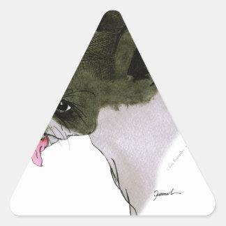 boston terrier, tony fernandes triangle sticker