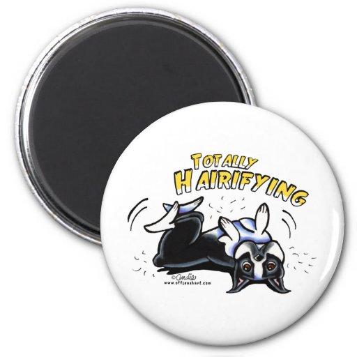 Boston Terrier Totally Hairifying 2 Inch Round Magnet