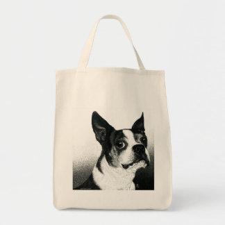 """Boston Terrier Tote Bag - """"Boston Style"""""""