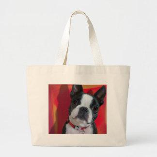 Boston Terrier Tote Jumbo Tote Bag