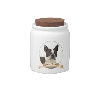Boston Terrier Treat/Candy Jar Candy Dishes