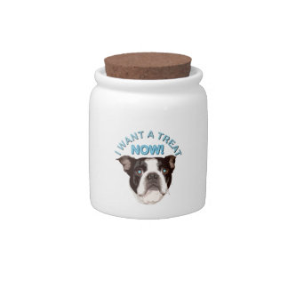 Boston Terrier Treat Jar Candy Jar