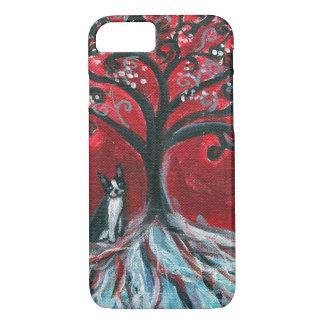 Boston Terrier Tree love iPhone 8/7 Case