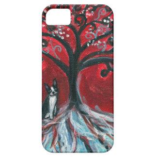 Boston Terrier Tree love iPhone SE/5/5s Case