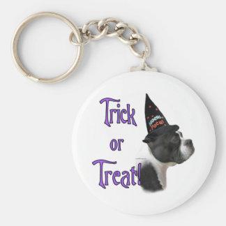 Boston Terrier Trick Basic Round Button Keychain