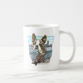 Boston Terrier Tricycle Coffee Mug