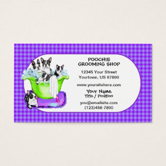 Boston Terrier Tub Full Business Cards