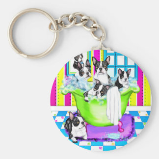 Boston Terrier Tub Full Key Chains