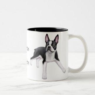 Boston Terrier Two Tone Mug