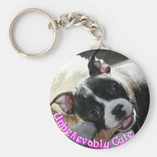Boston Terrier:  Unbelievably Cute! Basic Round Button Keychain