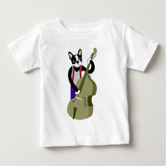 Boston Terrier Upright  Bass Player Tshirt