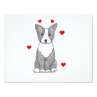 Boston Terrier Valentine Ears Card