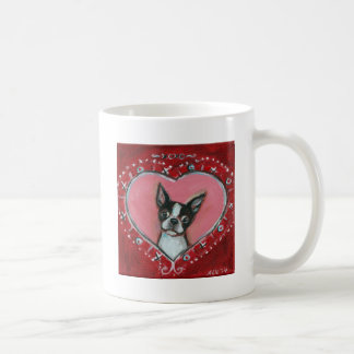 Boston Terrier Valentine xoxo Love hearts Coffee Mug