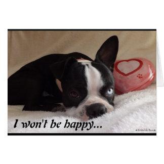 Boston Terrier Valentine's Day Card