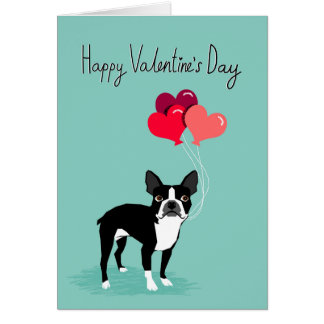 Schön Boston Terrier Valentines Day Card   Cute Dog Card