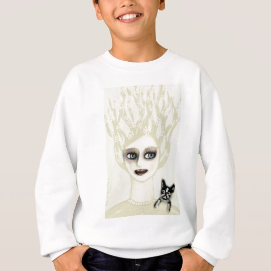 Boston Terrier Vintage Lady Lovely Sweatshirt
