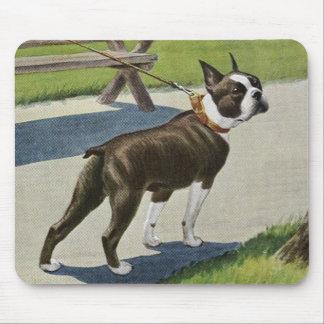 Boston Terrier Vintage Mousepad