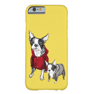 Boston Terrier w/ Puppy in Tracksuits iPhone Case
