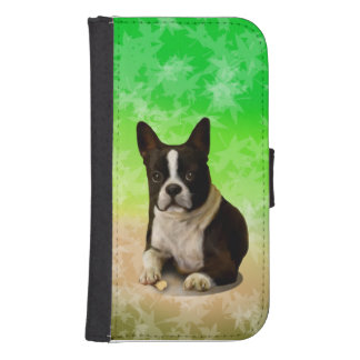 Boston Terrier Wallet Phone Case For Samsung Galaxy S4