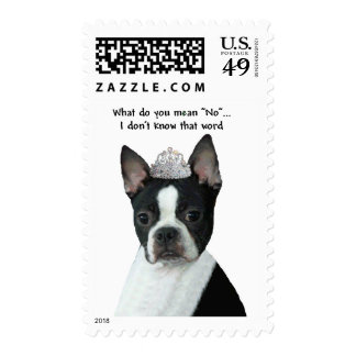 "Boston Terrier:  What Do You Mean ""No""? Postage Stamps"