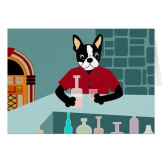 Boston Terrier Whiskey Jukebox Cards
