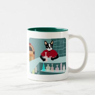 Boston Terrier Whiskey Jukebox Mugs