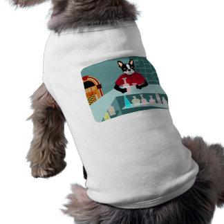 Boston Terrier Whiskey Jukebox Pet Tee Shirt