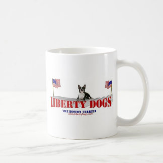 Boston Terrier with Flags Coffee Mug