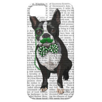 Boston Terrier With Green Moustache And Spotty iPhone SE/5/5s Case