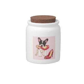 Boston Terrier with High Heels Candy Jar