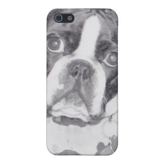 Boston Terrier with Kong toy iPhone SE/5/5s Case