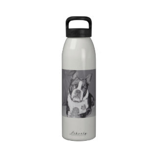 Boston Terrier with Kong toy Drinking Bottle