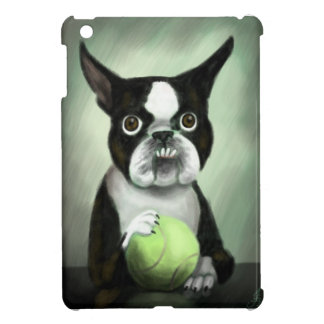 Boston Terrier with Tennis Ball Case For The iPad Mini