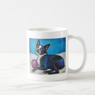 Boston Terrier with Toy Coffee Mug
