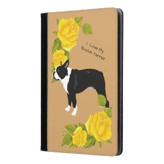 Boston Terrier with Yellow Roses iPad Air Case