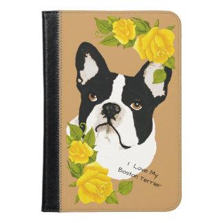 Boston Terrier with Yellow Roses iPad Mini Case