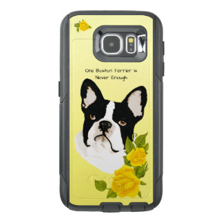 Boston Terrier, with Yellow Roses OtterBox Samsung Galaxy S6 Case