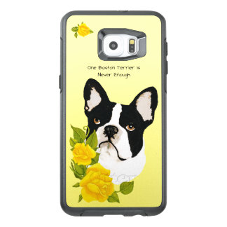 Boston Terrier, with Yellow Roses OtterBox Samsung Galaxy S6 Edge Plus Case