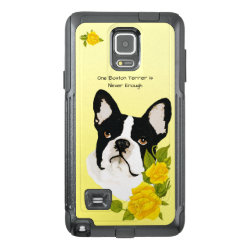 OtterBox Commuter Samsung Note 4 Case with Boston Terrier Phone Cases design