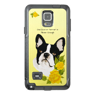 Boston Terrier, with Yellow Roses OtterBox Samsung Note 4 Case