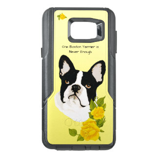 Boston Terrier, with Yellow Roses OtterBox Samsung Note 5 Case