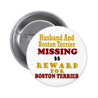 Boston Terrier y recompensa que falta del marido p Pin