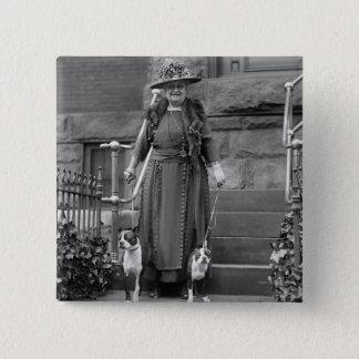 Boston Terriers & 1920s Fashion Button