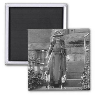 Boston Terriers & 1920s Fashion Magnet