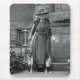 Boston Terriers & 1920s Fashion Mouse Pad