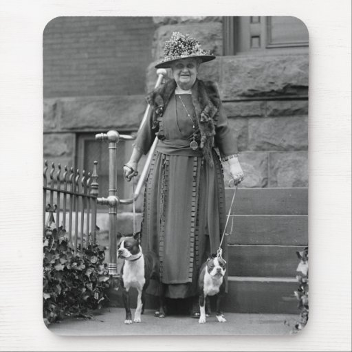 Boston Terriers & 1920s Fashion Mouse Pads