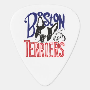 Boston Terriers Are A Gas Guitar Picks by UnionJackRussells at Zazzle