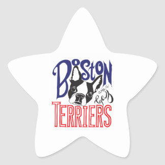 Boston Terriers are a Gas Star Sticker