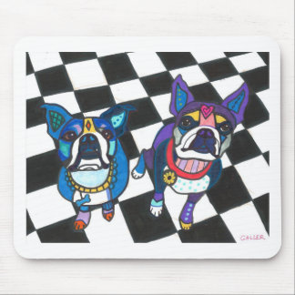 Boston Terriers by Heather Galler Mouse Pad